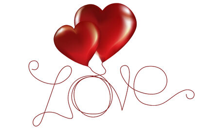 Two lovers heart. Vector illustration Vector