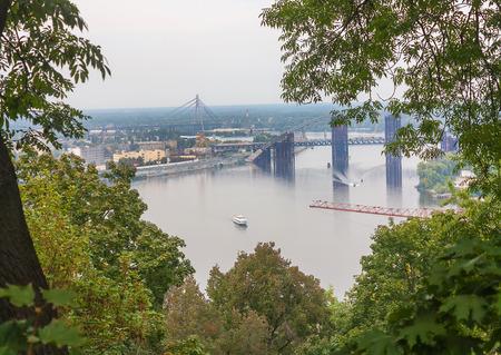 kiev: Bridge on Dnieper River in Kiev, Ukraine