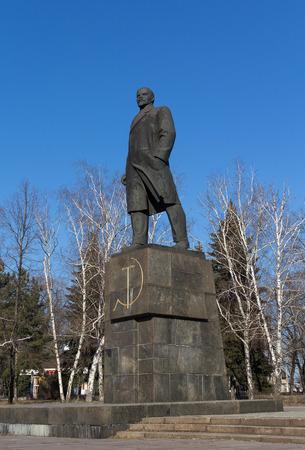 totalitarianism: Statue of Vladimir Lenin. Novorossiya, Makeevka
