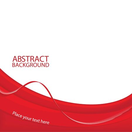 Red abstract background. Vector illustration Vettoriali