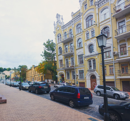 andrew: UKRAINE, KIEV - September 10,2013: Andrew Descent  - the historic part of the city Kiev