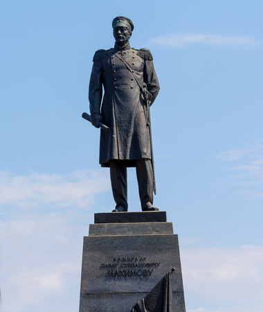 admiral: Monument to Admiral Nakhimov, led the defense of Sevastopol during the Crimean War of 1812