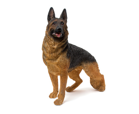 adeptness: German shepherd figurine isolated on white background