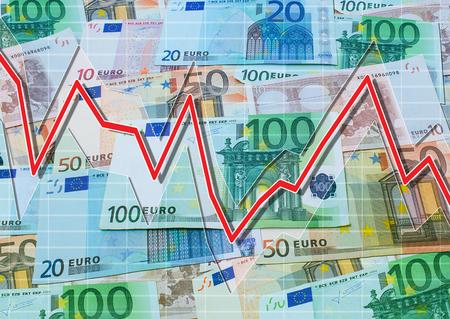 descending: Euro and descending graph