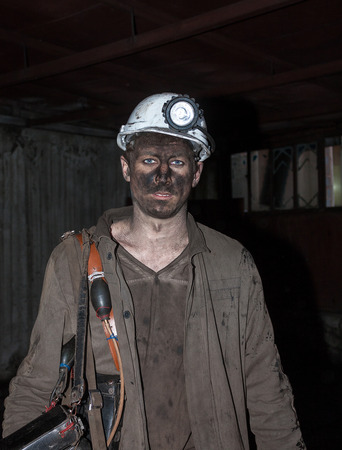 anthracite coal: Donetsk, Ukraine - November, 06, 2012: The miners in the mine named after Skochinskiy after the work shift