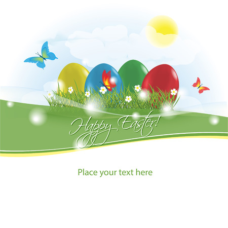 Easter greeting card. Vector illustration Vector
