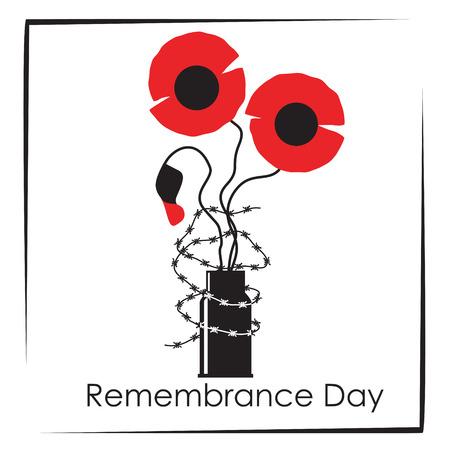 remembrance day: Simbolo di giorno Remembrance Vettoriali