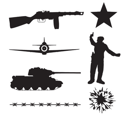 ww2: The Red Army in World War II. Silhouettes
