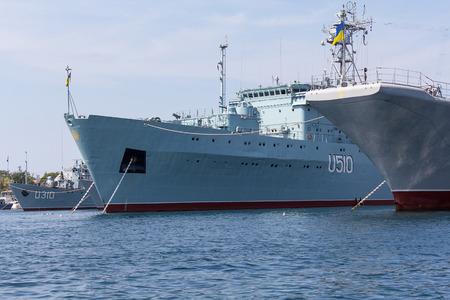 establishment: Ukraine, Sevastopol - September 02, 2011: Court Ukrainian Navy in Sevastopol until the establishment of control over the Crimea from Russia