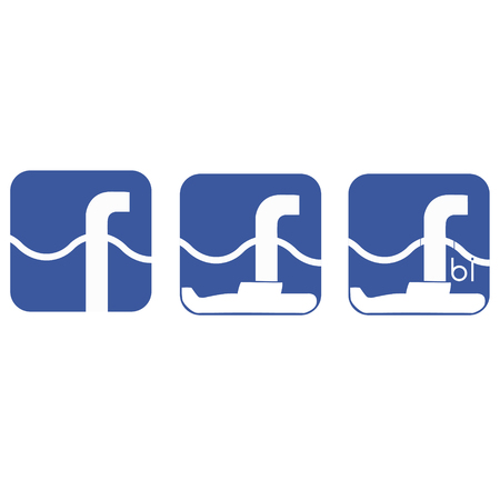the fbi: Fun logo on the theme of interaction between special services and social networks