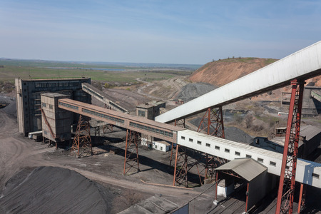 coal mine: Coal preparation plant and the surrounding views. Donbass, Ukraine Editorial