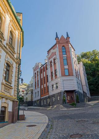 str: Old houses in the historic city of Kiev