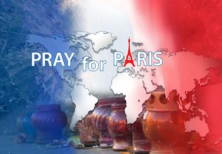 13th: Pray for Paris. Banner Stock Photo