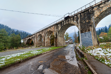 vorohta: Viaduct was built during the Austro-Hungarian empire in the village of Vorokhta, Ukraine