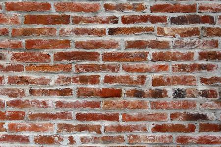 paredes de ladrillos: Ladrillo y mortero gris. Fondos y texturas
