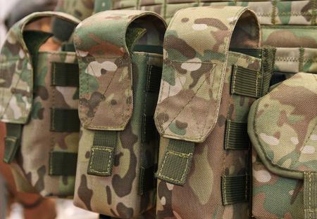 ammunition: Pouches for ammunition closeup. Weapons and ammunition