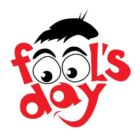 jest: April fools day design. Vector illustration