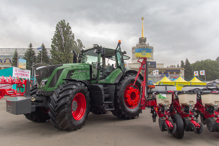agro: Ukraine, Kiev - June 10, 2016: Exhibits International agro-industrial exhibition AGRO 2016 Editorial