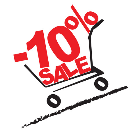 Big sale, 10 percentage discount . Vector illustration Illustration