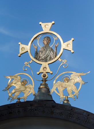 黄金ケルビム ウクライナ、キエフの聖アンドリューの教会 写真素材