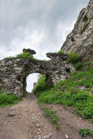 Ruins of the old medieval castle. Hust, Ukraine
