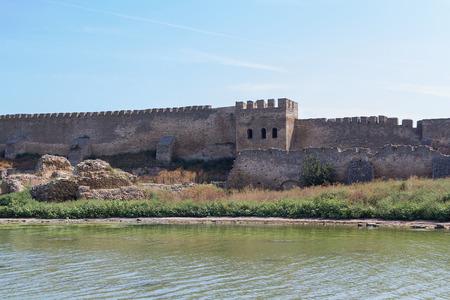 Ancient wall of Akkerman fortress in Belgorod-Dnestrovsky. Ukraine