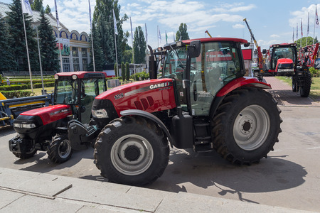 Ukraine, Kiev - June 11, 2017: Exhibits International agro-industrial exhibition
