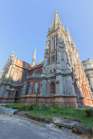 St. Nicholas Roman Catholic Cathedral and the National House of Organ and Chamber Music in Kiev, Ukraine