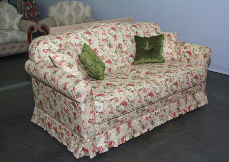 Sofa of the classic style in the trading room. Furniture