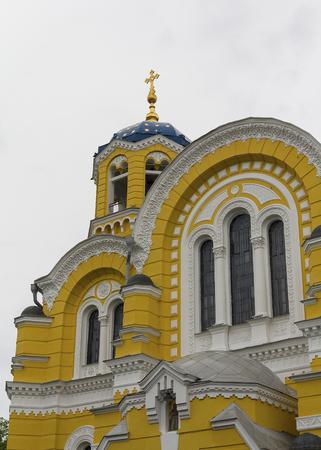 sobor: St. Vladimir Cathedral (sobor Sv. Volodymyra, 1882 ). Kiev, Ukraine.  Editorial