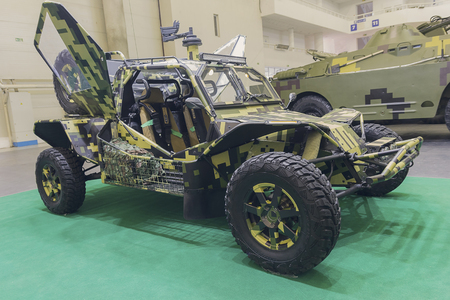 Kiev, Ukraine - October 11, 2017: Military car-buggy at the exhibition Arms and security - 2017