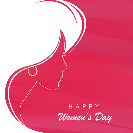 Profile of a beautiful girl to celebrate Womens Day. Vector illustration Illustration