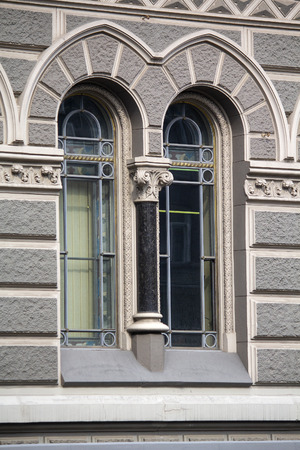 Beautiful vintage window in a classical style. Architecture Stok Fotoğraf