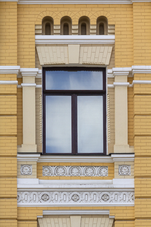 Beautiful arched window in a classic style. Architecture Stok Fotoğraf - 123962934