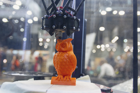 Object is printed on a 3d printer in the laboratory. Technology Stok Fotoğraf