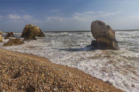 Storm on the Black Sea off the coast of Crimea