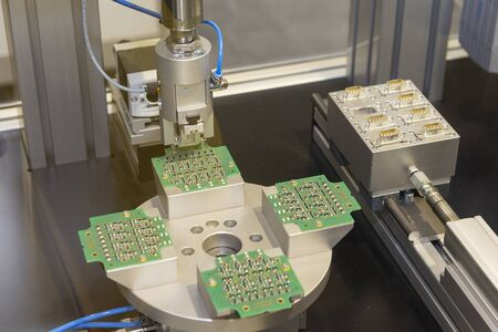 Robotic production of electronic components. Industry