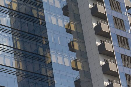 Glass facade of office building. Abstract background