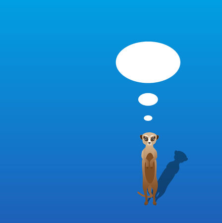 meerkat: Vector meerkat with shadow on a blank background