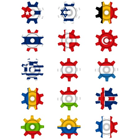 National flag gears on a blank background Vector