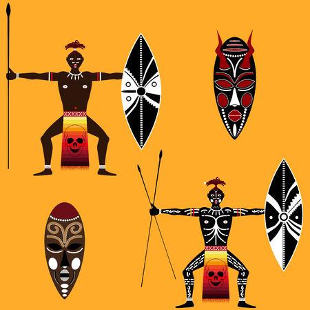 tekenen van inheemse op een lege achtergrond