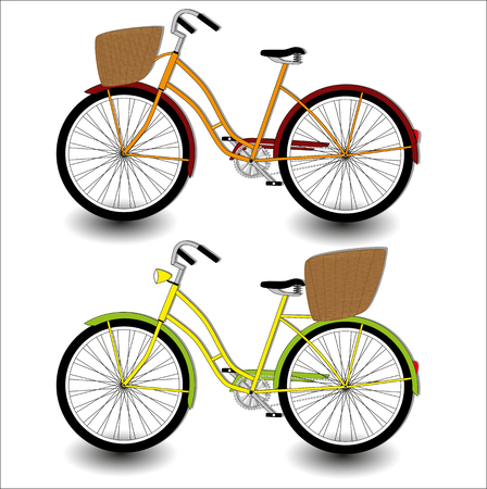 one wheel bike: Vector drawing of a bicycle on a blank background