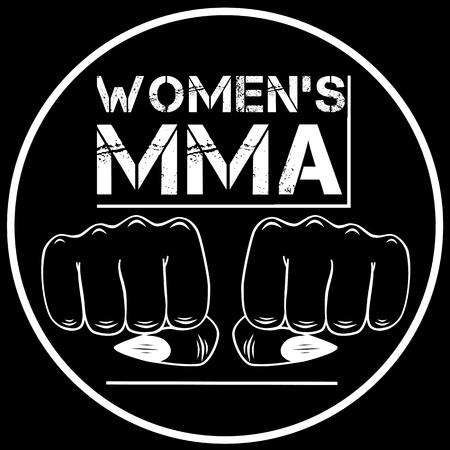 jiu jitsu: Women fights. Female MMA. Vector illustration.  Illustration