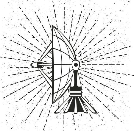 parabolic: Vector illustration parabolic sattelit. Isolated object on a white background