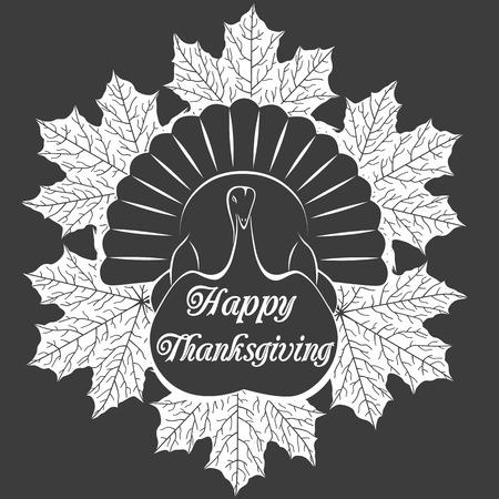 thanksgiving day symbol: Bellissimo cartone animato di uccello tacchino per Happy Thanksgiving celebrazione