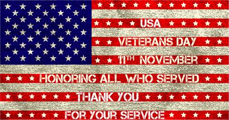 veterans day flag illustration design over a white background