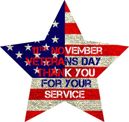 veteranen dag vlag illustratie ontwerp op een witte achtergrond