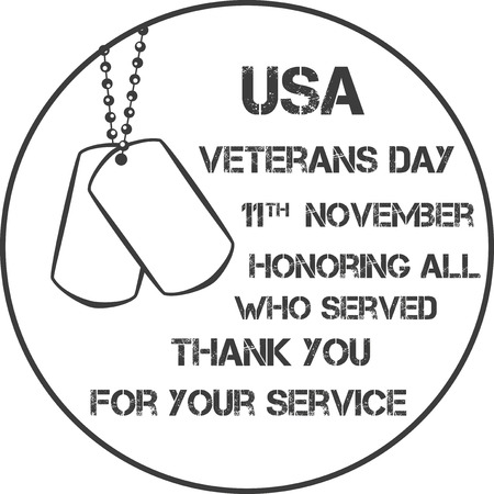honour: veterans day sign illustration design over a blank background