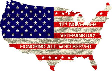 veterans day sign illustration design over a blank background