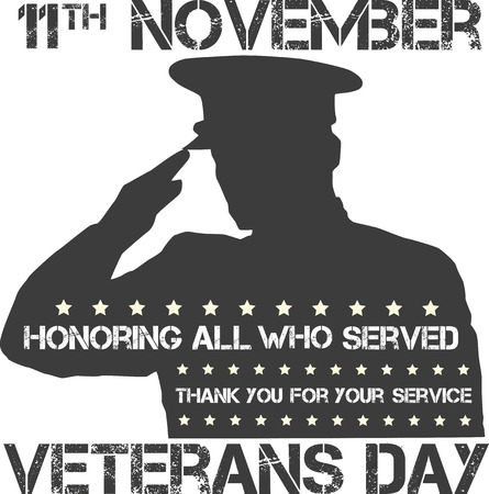 national hero: veterans day sign illustration design over a blank background